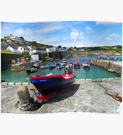 Coverack Cove, Cornwall Poster