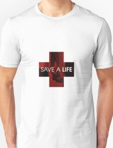 SAVE A LIFE LOGO V-NECK TEE T-Shirt