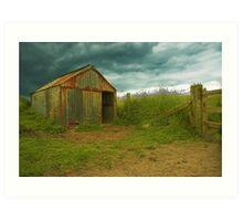 Crofter's Hut, Spiggie, Shetland Art Print