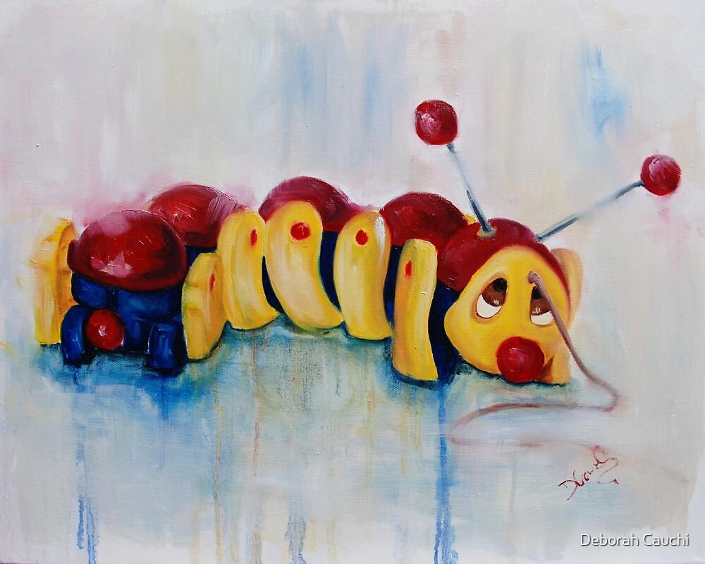 Caterpillar pull along - retro by Deborah Cauchi