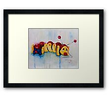 Caterpillar pull along - retro Framed Print