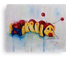 Caterpillar pull along - retro Canvas Print
