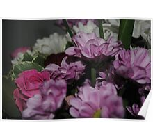 Colourfull bunch of flowers Poster