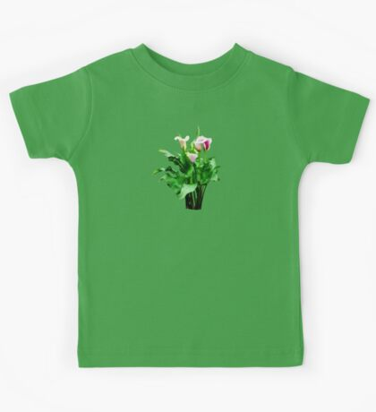 Pink and White Calla Lilies Kids Tee