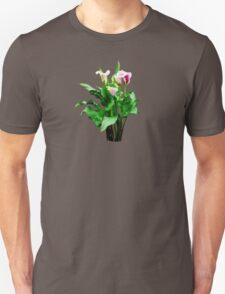 Pink and White Calla Lilies Unisex T-Shirt