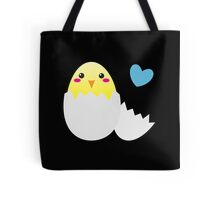 Cute Easter chick with love heart Tote Bag
