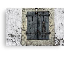 An old closed eye Canvas Print