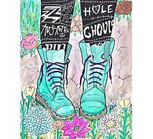 Punk Boots Photographic Print