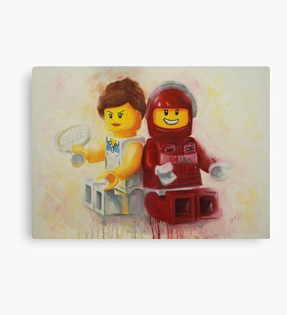 Lego figures, game, set & match Canvas Print
