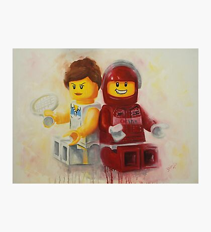 Lego figures, game, set & match Photographic Print