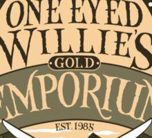 One Eyed Willie's Gold Emporium Sticker