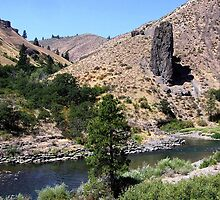 Cougar Canyon - Naches River, Chinook Scenic Byway, Yakima County, WA by Rebel Kreklow