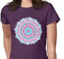 Tropical Doodle Flower Womens Fitted T-Shirt