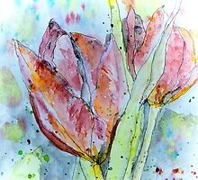 painting with tulips by Kay Weber