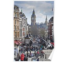 Trafalgar Square Towards Westminster, London Poster