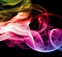 Rainbow Smoke on Black by Sorted3000