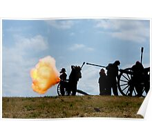 Canon Explosion - Prado Civil War Reenactment Poster