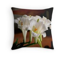 More lilies Throw Pillow
