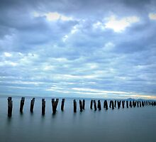 Old jetty, Clifton Springs  by Caroline Duncan