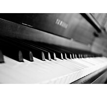Black and White Piano Photographic Print