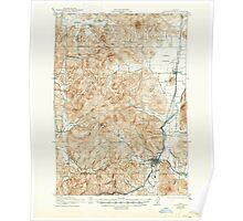 USGS Topo Map Oregon Cottage Grove 282374 1921 62500 Poster