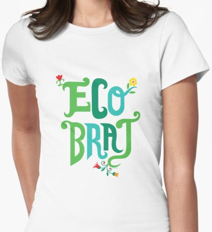 Eco Brat Womens Fitted T-Shirt