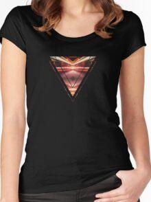 Geometric Street Night Light (HDR Photo Art) XTFORCE-TB Women's Fitted Scoop T-Shirt