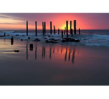 Jetty at Port Willunga, South Australia. Photographic Print