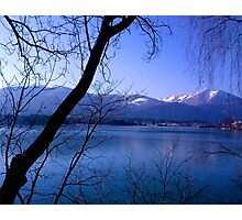 Lake in Austria, framed by trees Photographic Print