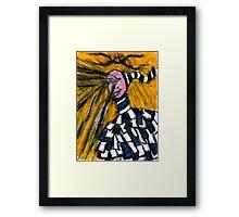 A crying clown Framed Print