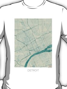 Detroit Blue Vintage T-Shirt