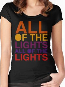 All of the Lights Color Women's Fitted Scoop T-Shirt