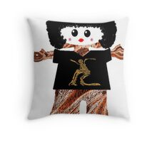 Country Line Dancer Rag Doll Throw Pillow