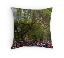 Tree in a Sea of People Throw Pillow