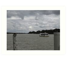 Cold Day at Mannum, South Australia. Art Print