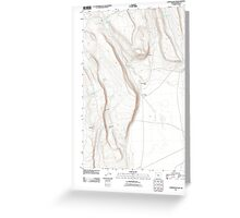 USGS Topo Map Oregon Corporation Rim 20110816 TM Greeting Card