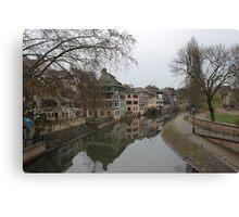 Strasbourg Canal Canvas Print