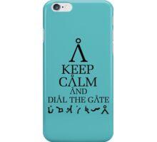 Stargate SG1 - Keep Calm and Dial The Gate iPhone Case/Skin