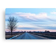 Painted Sunset Sky Canvas Print