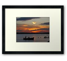 Sunset at Williamstown VIC #2 Framed Print