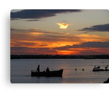 Sunset at Williamstown VIC #2 Canvas Print
