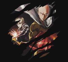 one punch man saitama genos anime manga shirt by ToDum2Lov3