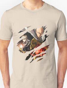 one punch man saitama genos anime manga shirt T-Shirt