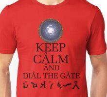 Stargate SG1 - Keep Calm and Dial The Gate. Unisex T-Shirt