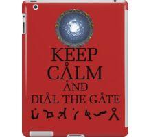 Stargate SG1 - Keep Calm and Dial The Gate. iPad Case/Skin