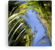 Watery Brush Strokes Canvas Print
