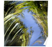 Watery Brush Strokes Poster