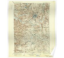 USGS Topo Map Oregon Mount Hood 283228 1927 125000 Poster