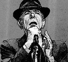 Leonard Cohen by Victoria Jostes