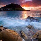 Mauao Orange & Purple Set by Ken Wright